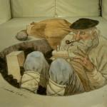 opere anamorfiche di Eduardo Relero