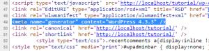 Il tag meta name generator di WordPress