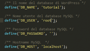 WordPress: le credenziali del database