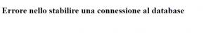 wordpress errore database