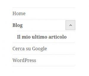 wordpress menu finale