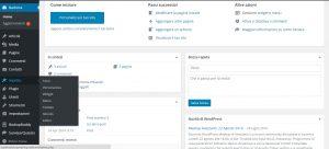 wordpress pannello gestione menu aspetto