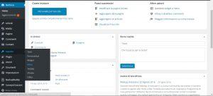 wordpress pannello gestione menu aspetto menu